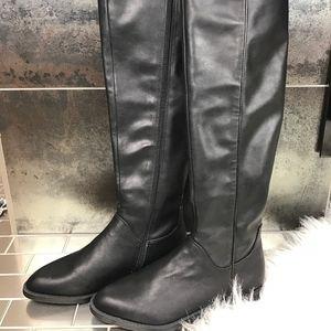 Franco Sarto Varick Black Riding Boot NEW